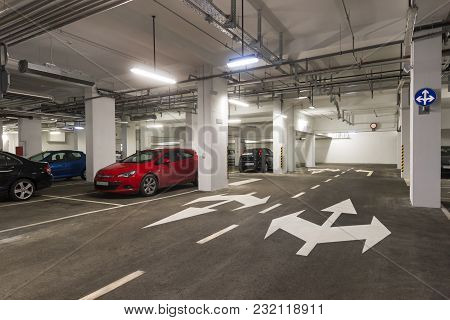 Underground Garage In Business House In Centre Of Town Dubrovnik In Croatia
