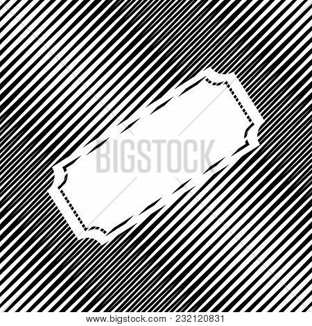 Ticket Sign Illustration. Vector. Icon. Hole In Moire Background.