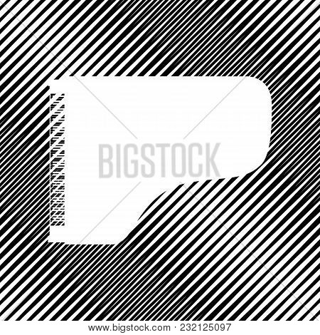 Concert Grand Piano Sign. Vector. Icon. Hole In Moire Background.