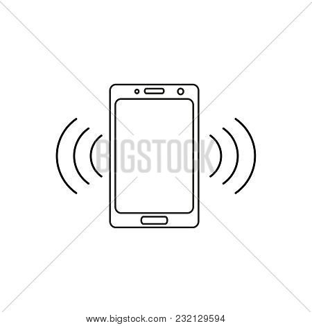 Telephone Call Icon On The White Background