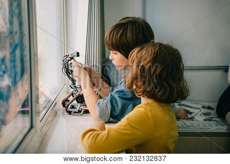 Adorable Little Kids Making Diy Robot Together