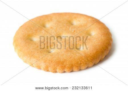 Single Cracker Isolated On The White Background