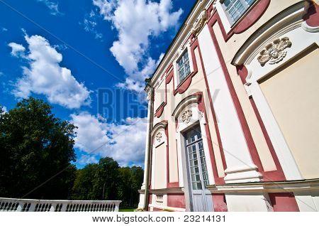 exterior of the royal palace Kadriorg in Tallinn poster