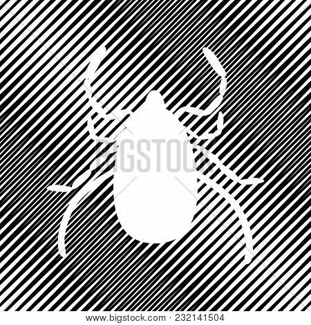 Dust Mite Sign Illustration. Vector. Icon. Hole In Moire Background.
