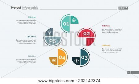Cycle Chart With Five Elements. Step Diagram, Process Chart, Layout. Creative Concept For Infographi