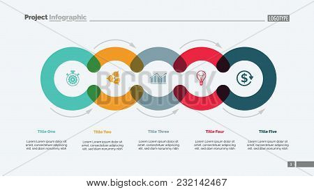 Cycle Diagram With Five Elements. Circular Infographics, Process Chart, Layout. Creative Concept For