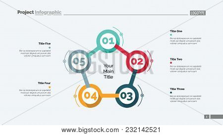 Cycle Flowchart With Five Elements. Step Diagram, Option Chart, Layout. Creative Concept For Infogra