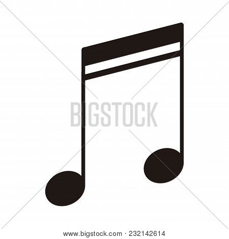 Isolated Sixteenth Beamed Note. Musical Note. Vector Illustration Design
