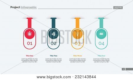 Four Options Infographic Diagram. Step Chart, Option Graph, Layout. Creative Concept For Infographic