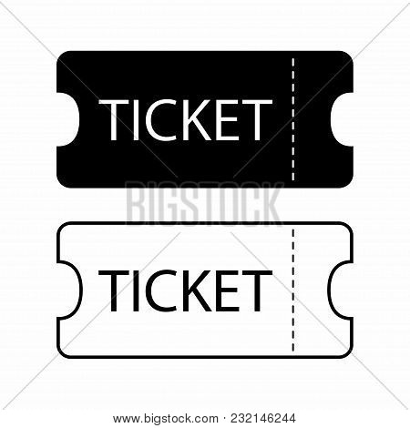 Ticket Icon. Templates For Tickets To The Cinema And Theater Or Museum, Etc. Vector