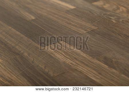 Oak Old Perennial Dark Parquet, Wood Texture.