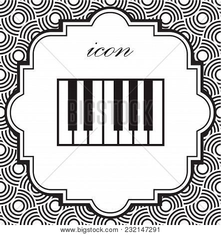 Vector Piano Icon On A Geometric Background Of Eps