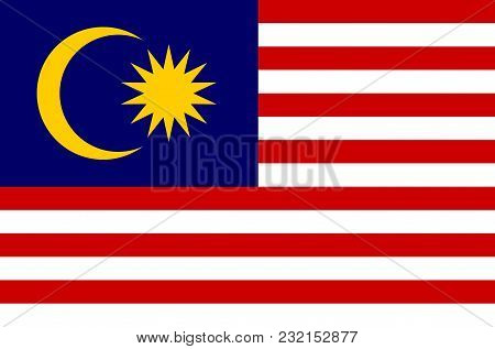 Malaysian National Flag, Official Flag Of Malaysia Accurate Colors