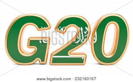 Summit G20 Concept. Saudi Arabia G20 Meeting, 3d Rendering