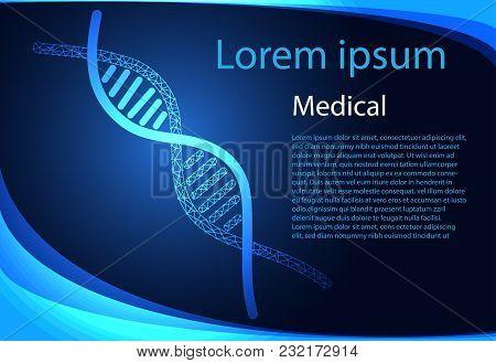 Abstract Health Medical Science Dna Digital Technology Modern Medical Technology On Hi Tech Future B