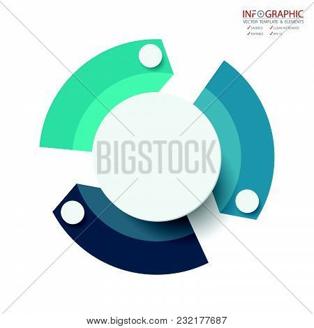 Vector Abstract Element Infographics 3 Option. Design For Business Or Finance Template Layout, Broch
