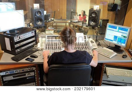 ZAGREB, CROATIA - MAY 29, 2016: Croatian Catholic Radio this year celebrated 20 years of broadcasting in Zagreb, Croatia on May 29, 2016.