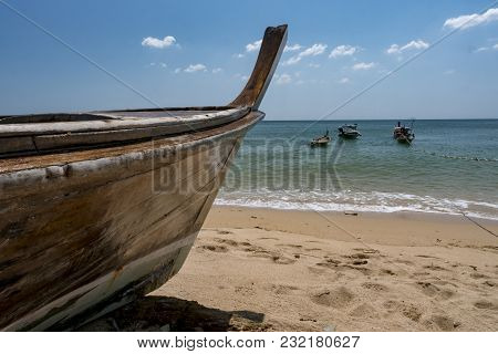 Moored Fishing Boats, Ko Lanta Island - Thailand