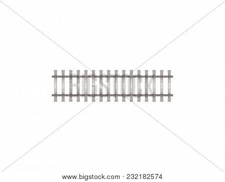 Flat Design Of Short Fragment For Constructing Railway.