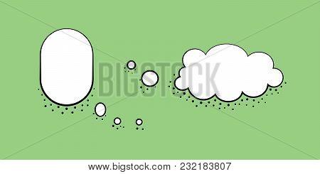 Set Speech Bubble Design Template. Vector Illustration In Retro Style
