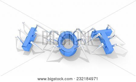 Internet of Things IOT Spiders Bugs 3d Illustration