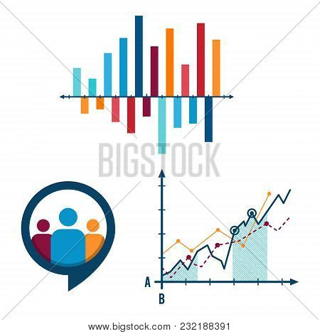 Abstract Infographic Elements Concept With Stage, Human, Parts Elements. Data Infographic Chart. Tim