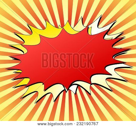 Illustration Of Explosion Background Red And Yellow Concept
