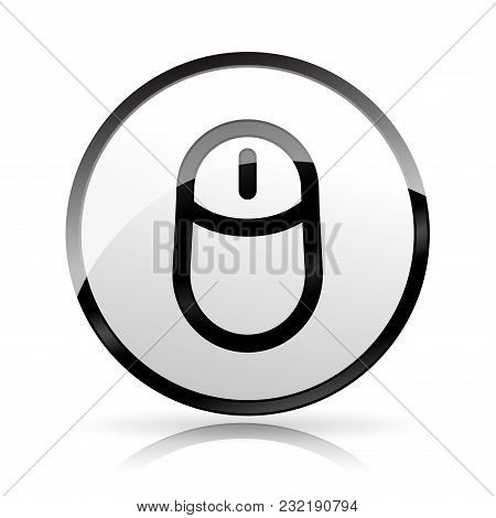 Illustration Of Mouse Icon On White Background