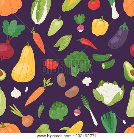 Vegetables Vector Healthy Nutrition Of Vegetably Tomato Pepper And Carrot For Vegetarians Eating Org