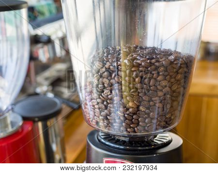 Coffee Grinder - Coffee Beans In The Electric Coffee Grinder