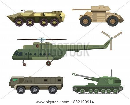 Military Transport Vector Vehicle Technic Army War Tanks And Industry Armor Defense Transportation W