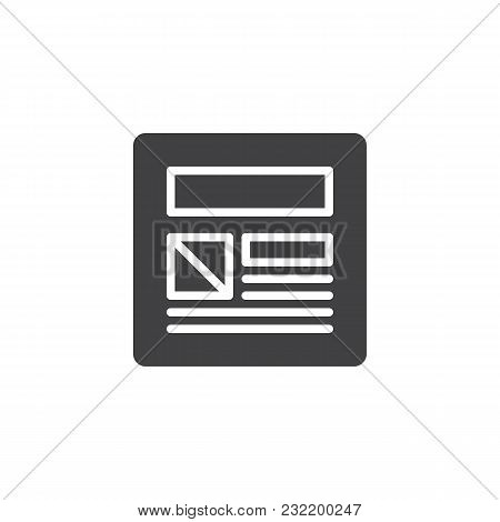 Web Page Design Vector Icon. Filled Flat Sign For Mobile Concept And Web Design. Website Design Simp