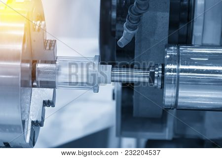 The Cnc Lathe Machine Attach The Grinding Tool For Inside Grinding Process.