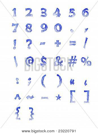Frozen Numbers And Symbols