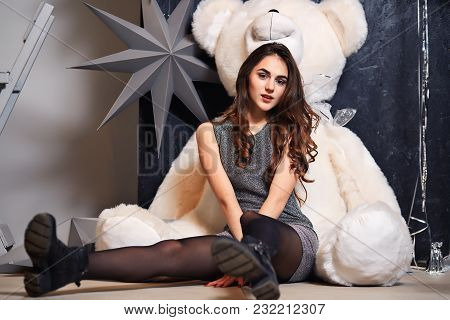 Concept Of The New Year, Christmas And St. Valentine's Day, Birthday, Women's Day. Happy Holidays, S