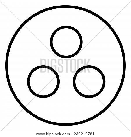 Symbol Deaf-mute Or Workgroup Icon Black Color Vector Illustration Flat Style Simple Image