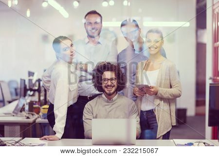 Portrait Of Successful Business people Entrepreneur At Busy startup Office