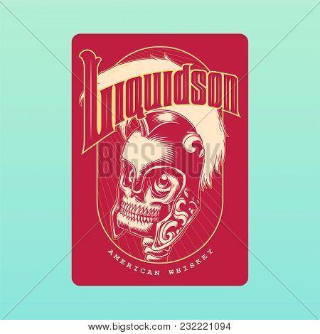 Illustration of liquor label