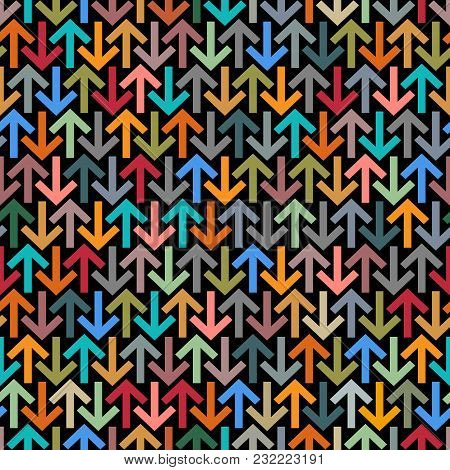 Colorful Arrows Seamless Background. Vector Illustration, Vector Background
