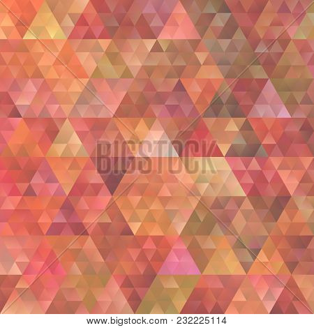 Retro Abstract Gradient Regular Triangle Background - Vector Graphic Design