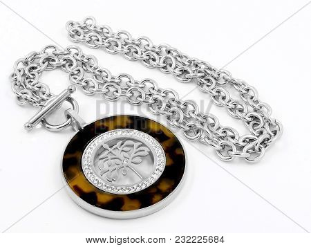 Necklace - The Tree Of Life Theme - Stainless Steel - One Background Color