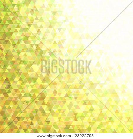 Retro Geometric Regular Triangle Background - Vector Design