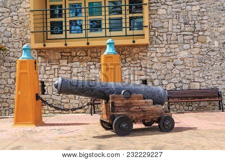 Old Cannon At Rif Fort In Curacao