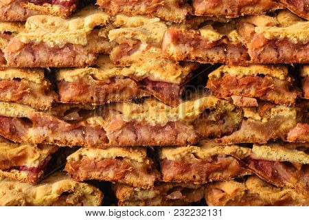 Pieces Of Homemade Apple Pie For The Background