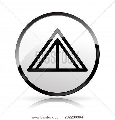 Illustration Of Tent Icon On White Background
