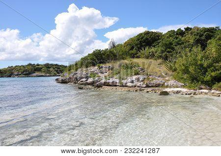 Sunny Beach At Bird Island Of Antigua
