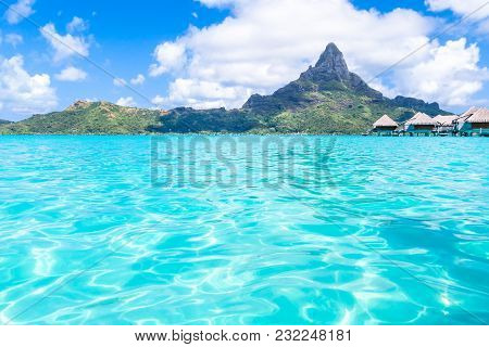 Moorea Island In The French Polynesia. Paradise Beach.