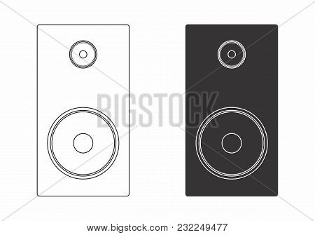 Illustration Of Two Speakers Isolated On White Background