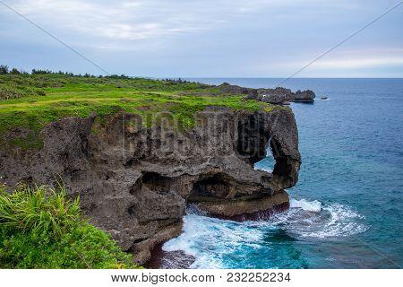 Landscape Of Cape Manzamo In Okinawa, Japan