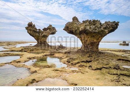 Landscape Of The Heart Rock In Okinawa
